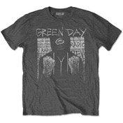 Green Day - Ski Mask Men's X-Large T-Shirt - Charcoal Grey