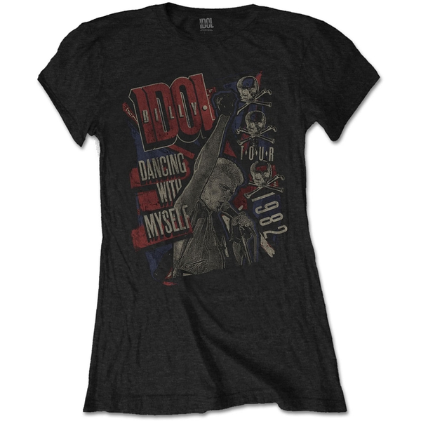 Billy Idol - Dancing with Myself Women's Small T-Shirt - Black