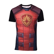 Guardians of the Galaxy - Rocket Raccoon Sublimation Men's Large T-Shirt - Red