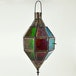 Iron Antique Copper Color Glass Hanging Lantern - Image 2