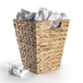 Natural Banana Leaf Waste Paper Basket | M&W - Image 3