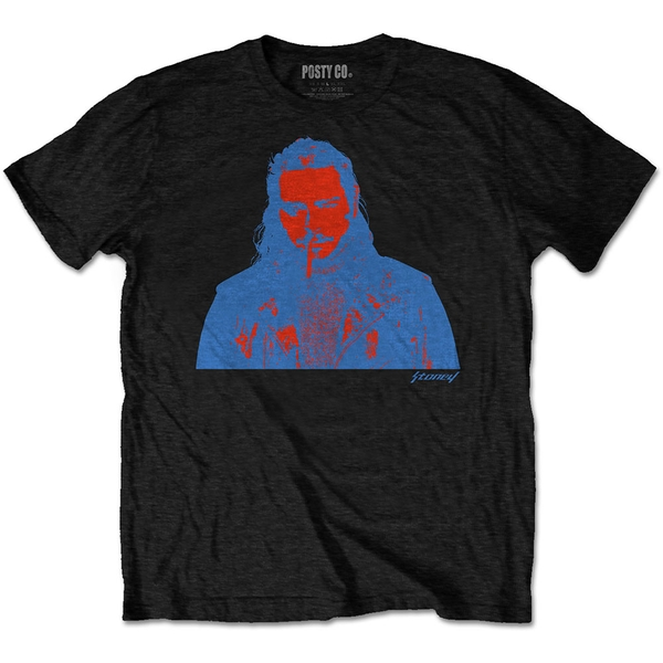Post Malone - Red & Blue Photo Men's XXX-Large T-Shirt - Black