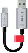 Lexar JumpDrive C20c 64GB 32GB USB 3.0 (3.1 Gen 1) Type-A/Type-C Black,Silver USB flash drive