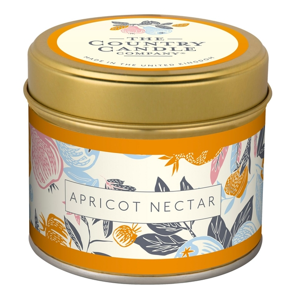 Apricot Nectar (Fragrant Orchard Collection) Gold Tin Candle