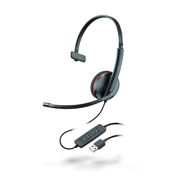 Plantronics Blackwire C3210 Mono USB Headset Black