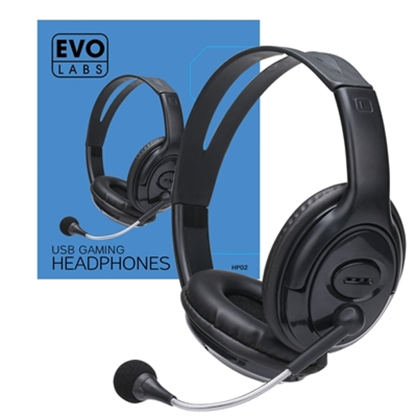 Image of Evo Labs HP02 USB Gaming Headset with Mic