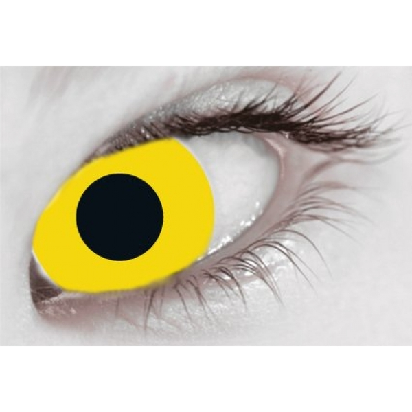 Yellow 1 Day Halloween Coloured Contact Lenses (MesmerEyez XtremeEyez) - Image 2