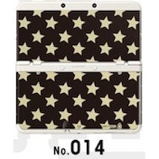 New Nintendo 3DS Cover Plates No 014 Gold Star Faceplate