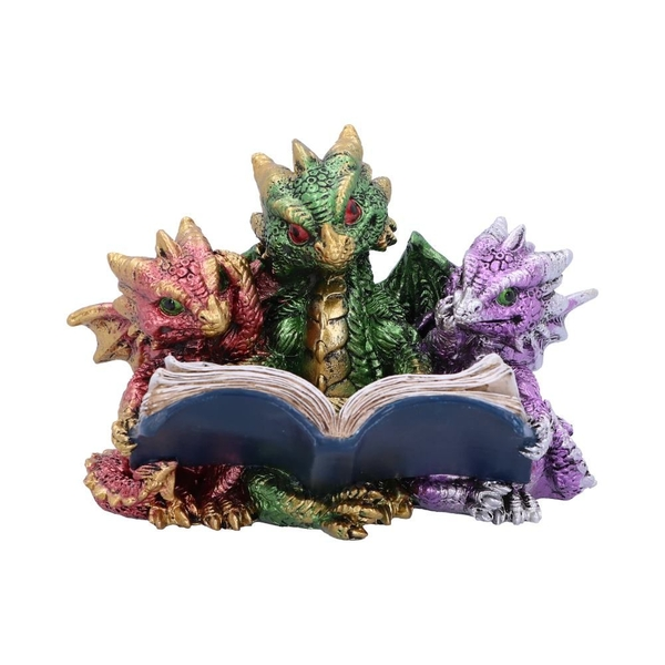 Tales of Fire Reading Dragon Figurine