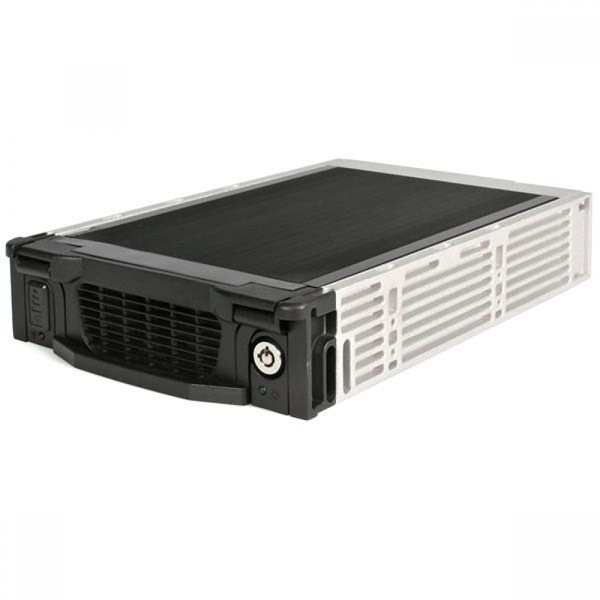 StarTech Black Aluminum 5.25in Professional SATA Hard Drive Mobile Rack Drawer