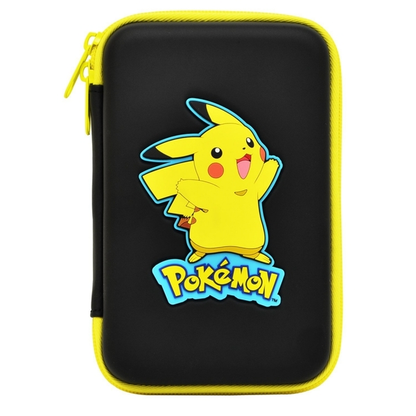 HORI Pikachu Hard Pouch Black NEW 3DS XL - Image 1