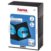 Hama Slim DVD Double Jewel Case, pack of 10, black