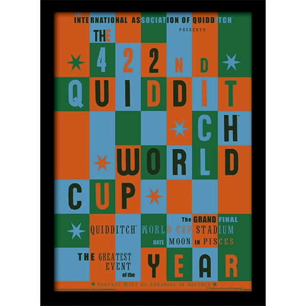Harry Potter - Quidditch World Cup Framed 30 x 40cm Print