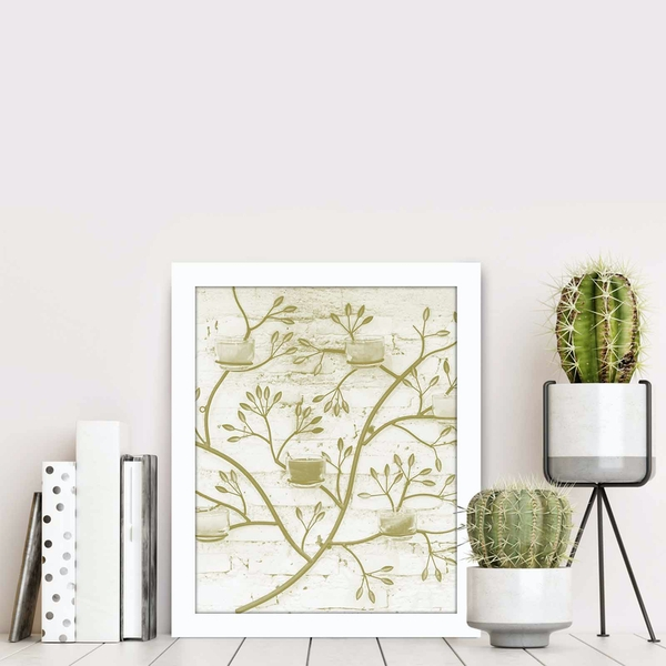 BCT-052 Multicolor Decorative Framed MDF Painting