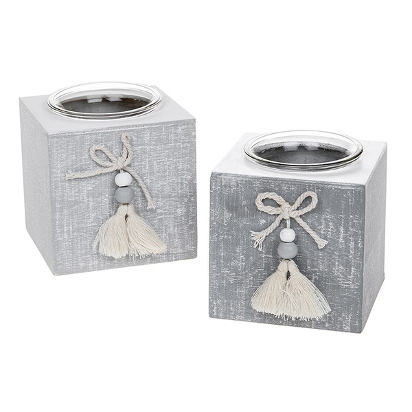 Provence Cool Grey Single Tealight (One Supplied)