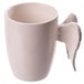 Ceramic White Angel Wings Mug - Image 2
