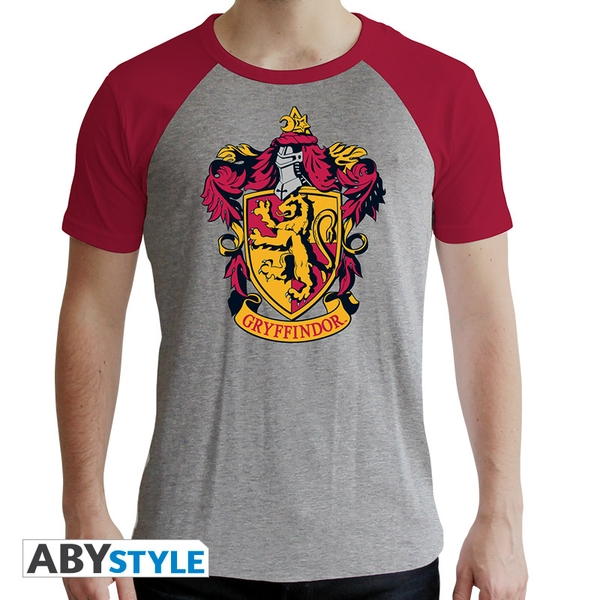 Harry Potter - Gryffindor Men's Medium T-Shirt - Grey and Red