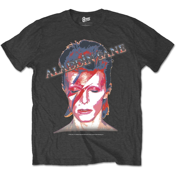 David Bowie - Aladdin Sane Unisex Large T-Shirt - Black