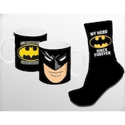 Batman Mug & Sock Set (Black)