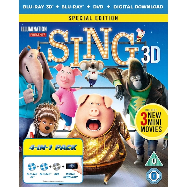 Sing Blu-ray + Blu-ray 3D + Digital Download