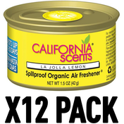 La Jolla Lemon (Pack Of 12) California Scents Spillproof Organic Canister