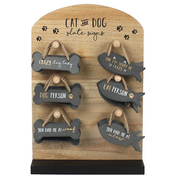 Set of 24 Cat and Dog Slate Signs