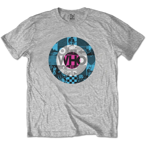 The Who - Target Blocks Unisex Small T-Shirt - Grey