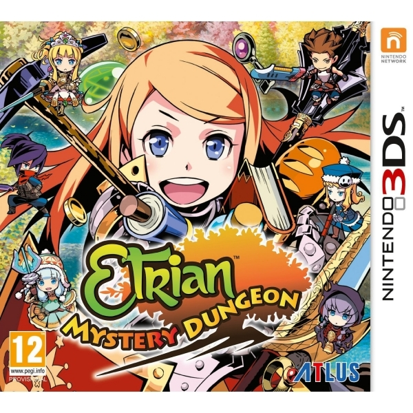 Etrian Mystery Dungeon 3DS Game