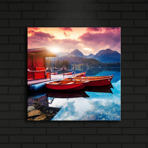 4040?ACT-12 Multicolor Decorative Led Lighted Canvas Painting