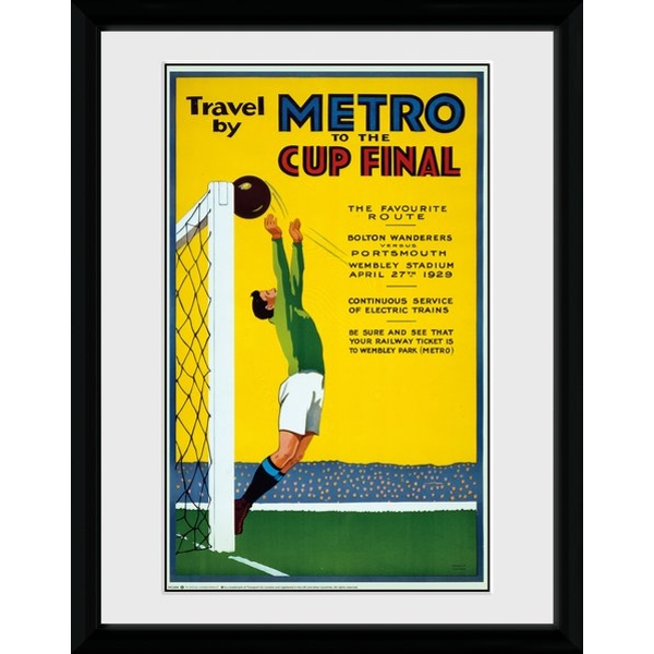 "Transport For London Metro To The Cup Final 12"" x 16"" Framed Collector Print"