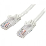 StarTech Cat5e Ethernet Patch Cable with Snagless RJ45 Connectors 7 m White