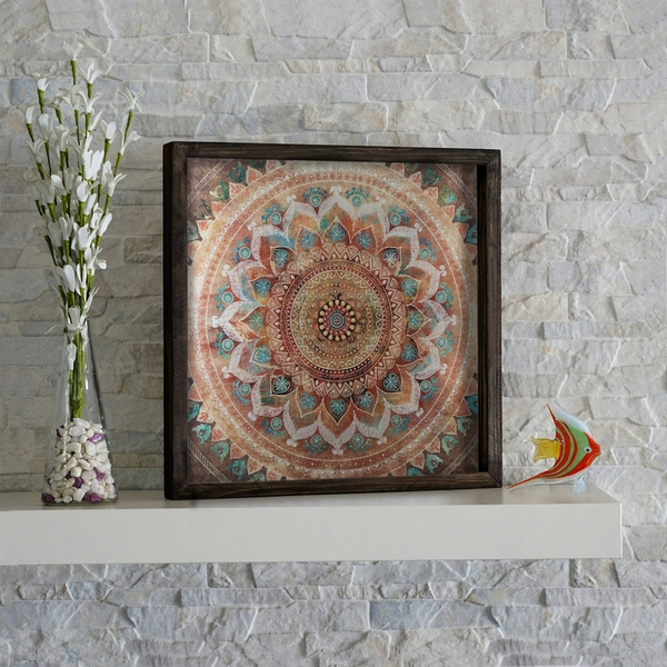 KZM249 Multicolor Decorative Framed MDF Painting