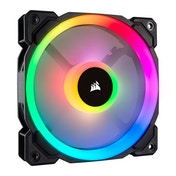 Corsair LL120 12cm PWM RGB Case Fan, 16 LED RGB Dual Light Loop, Hydraulic Bearing