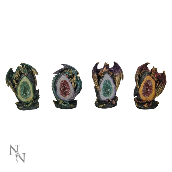 Geode Keepers (Pack Of 4) Dragon Figures
