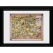 Transport For London Map 2 50 x 70 Framed Collector Print - Image 2