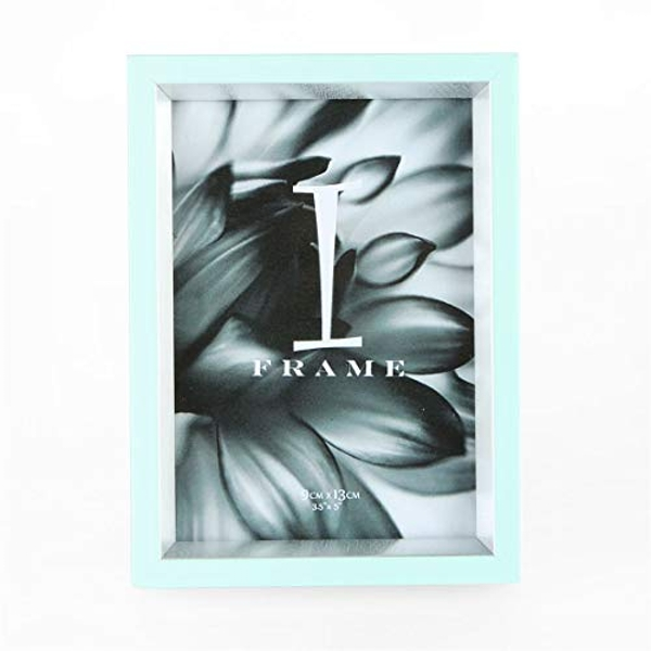 """3.5"""" x 5"""" - iFrame Duck Egg & Silver Photo Frame"""