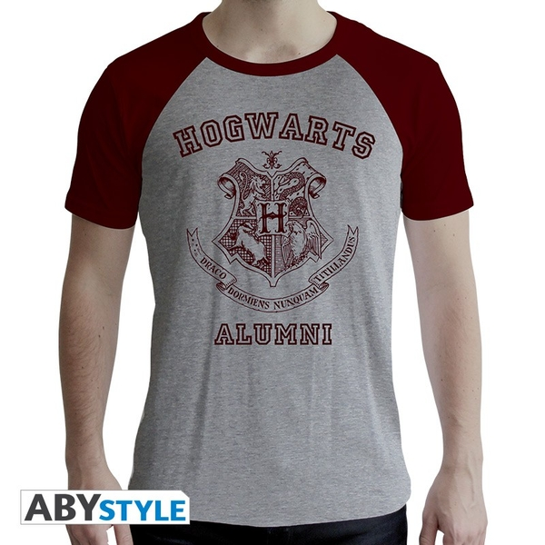 "Harry Potter - ""Alumni"" Mens SS XS T-Shirt - Grey/Red - Premium"