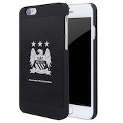 Official Manchester City FC Aluminium Football Case Cover for 4.7inch Apple iPhone 6 Black