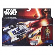 Y-Wing Scout Bomber and Kanan Jarrus (Star Wars: The Force Awakens) Figures