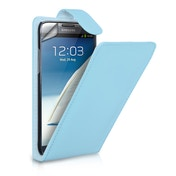 YouSave Accessories Samsung Galaxy Note 2 Flip Leather-Effect Case - Baby Blue