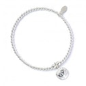 Circle Tree of Life with Sterling Silver Ball Bead Bracelet