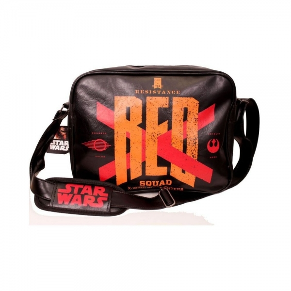 Star Wars VII The Force Awakens Resistance Red Squad X-Wing Starfighters Messenger Bag