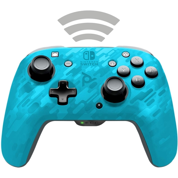 Afterglow Wireless Faceoff Deluxe Controller for Nintendo Switch | Camo Blue