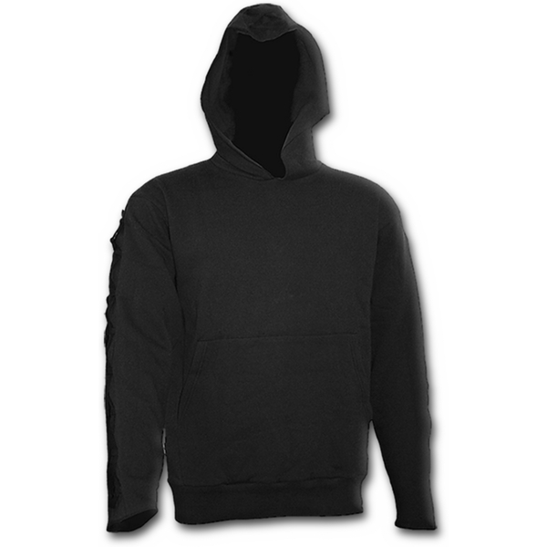 Gothic Elegance Gothic Strap Men's Large Hoodie - Black