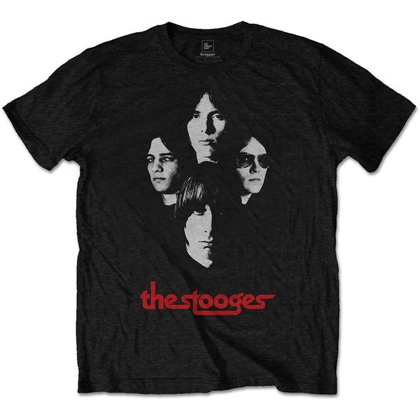 Iggy & The Stooges - Group Shot Men's Small T-Shirt - Black