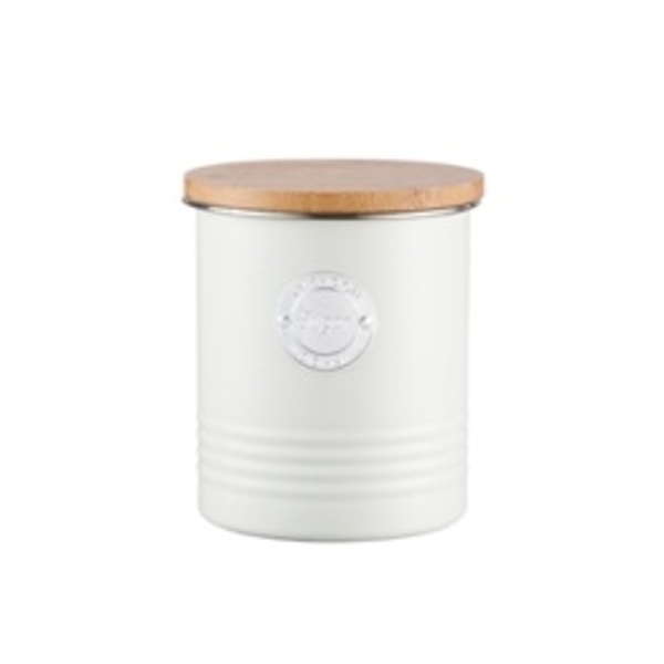 Typhoon Living 1 Litre Sugar Canister – Cream Steel 11 x 11 x 13.5 cm
