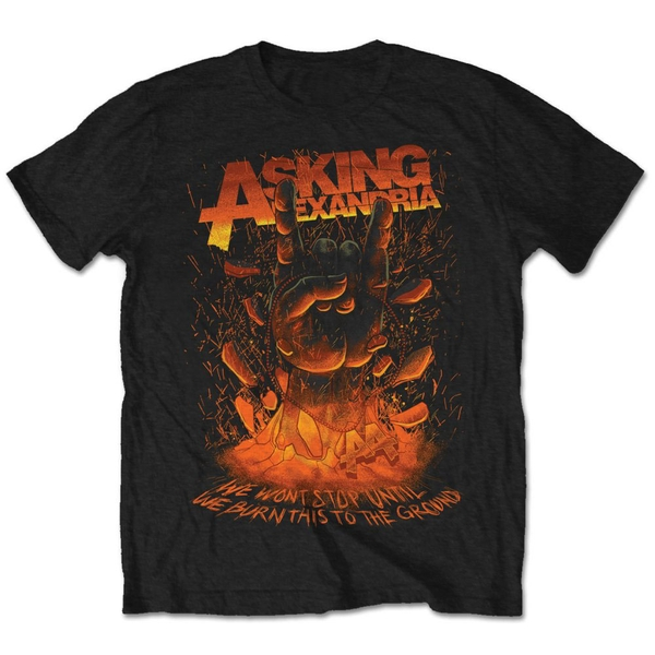 Asking Alexandria - Metal Hand Unisex Small T-Shirt - Black