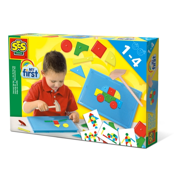 SES Creative - Children's My First Hammer Tap Tap Motor Skills Toy 1-4 Years (Multi-colour)