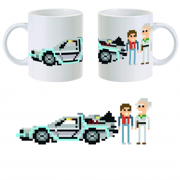 Back to the Future 8-Bit Marty and the Doc Mug ZT