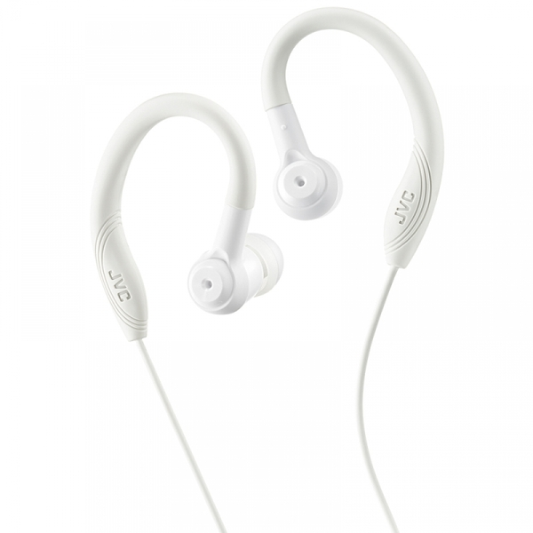 JVC HAEC10W Sports In Ear Headphones with Over Ear Clip White